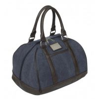 LEMIEUX LUXURY CANVAS HAT BAG NAVY