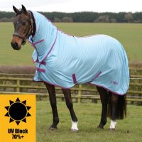SAXON MESH COMBO FLY RUG BLUE/CLARET