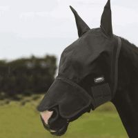 WEATHERBEETA BUZZ AWAY FLY MASK WITH NOSE BLACK