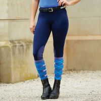 DUBLIN PERFORMANCE FLEX KNEE PATCH RIDING TIGHTS NAVY CHILDS