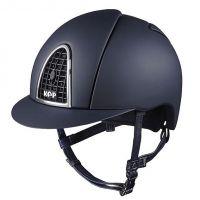 KEP CROMO TEXTILE BLUE JUNIOR RIDING HAT
