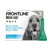 FRONTLINE PLUS SPOT ON FOR MEDIUM SIZE DOGD 10-20kg