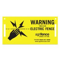 AGRIFENCE WARNING SIGN 5 PACK