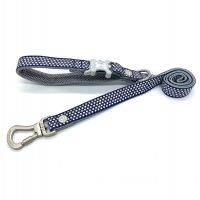HUGO & HUDSON 120 cm NAVY STAR DOG LEAD