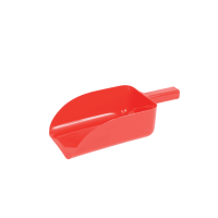 ROMA PLASTIC FEED SCOOP RED