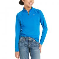 ARIAT YOUTH SUNSTOPPER 2.0 IMPERIAL BLUE BASELAYER