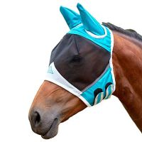 SHIRES DELUXE FLY MASK WITH EAR PROTECTION