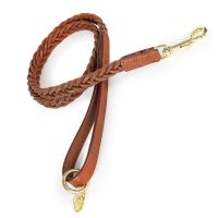 SHIRES DIGBY & FOX PLAITED LEATHER DOG LEAD