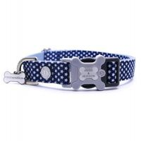 HUGO & HUDSON NAVY STAR DOG COLLAR