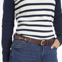 TOGGI PENELOPE LEATHER HORSE BIT BELT